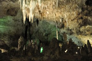 Stalactites in a Grotto, Big Room, Carlsbad Caverns National Park